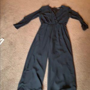 Black chiffon jump suit